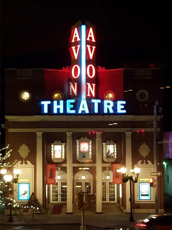 Avon Theatre Film Center, a 1939 landmark in Stamford, CT